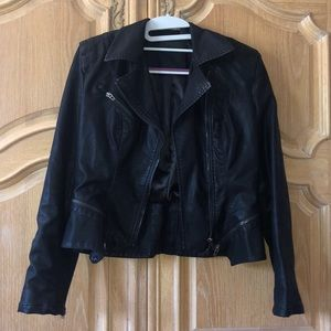 Black Leather Jacket. Nordstrom- Brand:BlankNYC